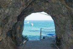 Cinque terre plaży krajobrazu morza widok Obraz Stock