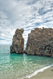 Cinque terre plaży krajobrazu morza widok Zdjęcie Royalty Free