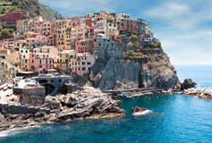 Cinque Terre region. Manarola village Stock Photography
