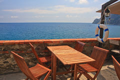 Cinque Terre restaurant Royalty Free Stock Image