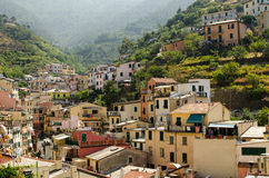Cinque terre. Rio Maggiore colorful houses, Italy Royalty Free Stock Photography