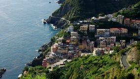 Cinque Terre Riomaggiore stock videobeelden