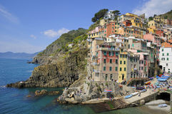 Cinque terre - Riomaggiore. Riomaggiore. Villages on coast of La Spezia province in Luguria, Italy Royalty Free Stock Photos