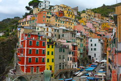 Cinque Terre, Riomaggiore, Itália Imagem de Stock Royalty Free