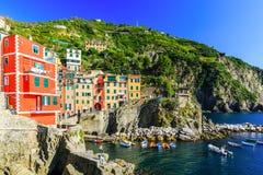 Cinque Terre, Riomaggiore Włochy Zdjęcia Royalty Free