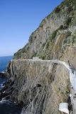Cinque Terre Riomagiore stockbilder