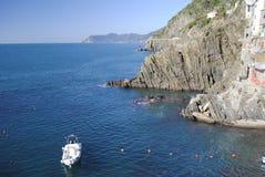 Cinque Terre Riomagiore lizenzfreie stockfotos