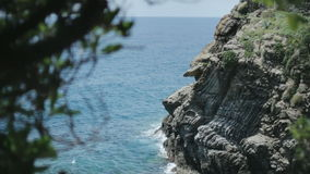 Cinque Terre Rocky Sea Coast stock video