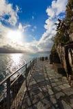 Cinque Terre - route de l'amour. l'Italie Photographie stock libre de droits