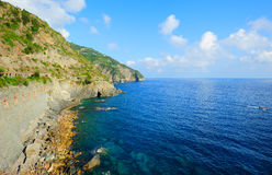 Cinque Terre seaside landscape Royalty Free Stock Photography