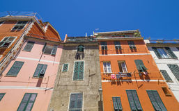 Cinque Terre  - tipical  colorful buildings Stock Image
