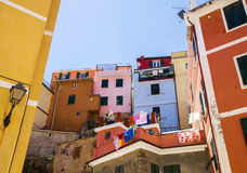 Cinque Terre  - tipical  colorful buildings Royalty Free Stock Images