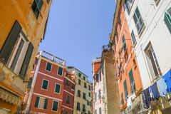 Cinque Terre  - tipical  colorful buildings Royalty Free Stock Photos