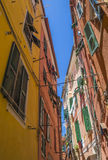 Cinque Terre  - tipical narrow street Royalty Free Stock Photography