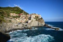 Cinque Terre, un village de patrimoine mondial Image libre de droits