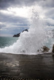 Cinque Terre, vagues Image stock