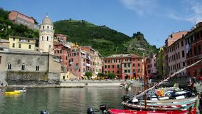 Cinque Terre Vernazza stock video footage