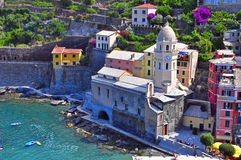 Cinque terre. Vernazza in italy Stock Photography