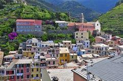 Cinque terre. Vernazza village, Italy Stock Photos
