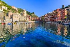 Cinque Terre, Vernazza Włochy Zdjęcia Royalty Free