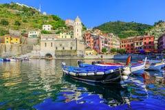 Cinque Terre, Vernazza Włochy Obrazy Royalty Free
