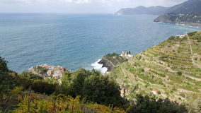 Cinque Terre - view over Manarola Royalty Free Stock Photos