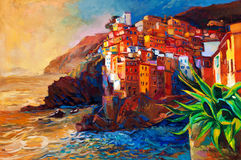 Cinque Terre wybrzeże zdjęcia royalty free