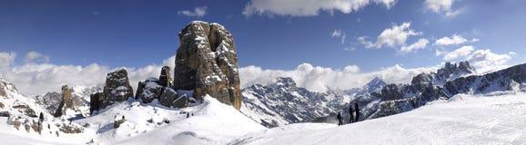 Cinque Torri, Cortina d ` Ampezzo, Dolomit Italien Lizenzfreie Stockfotos