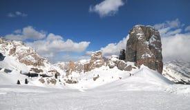 Cinque Torri, Cortina d ` Ampezzo, Dolomit Italien Lizenzfreie Stockfotografie