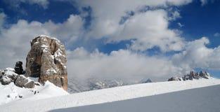 Cinque Torri, Cortina d`Ampezzo, Dolomites Italy. Stock Image