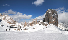 Cinque Torri, Cortina d`Ampezzo, Dolomites Italy. Royalty Free Stock Photography