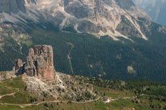Cinque Torri, Dolomites, Italy Royalty Free Stock Photo