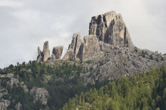 Cinque Torri rock formations Royalty Free Stock Photos