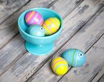 Cinque uova di Pasqua Fotografia Stock Libera da Diritti
