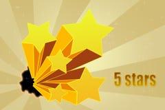 Cinque valutazioni delle stelle Immagine Stock Libera da Diritti