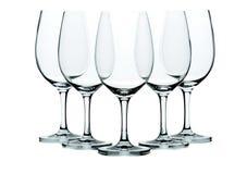 Cinque vetri di vino Immagine Stock