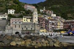 cinque Włoch sławny la spezia umieścić blisko morza terre turystyczny zmienia vernazza Fotografia Royalty Free