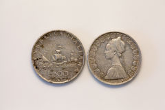 Cinquecento里拉硬币 免版税库存照片
