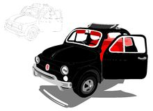 Cinquecento 500 Italian Fiat Car. Italian design for Fiat 500 Stock Image