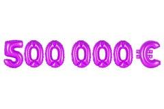 Cinquecento mila euro, colore porpora Fotografia Stock