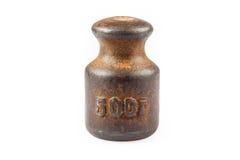 Cinquecento pesi di grammo Immagine Stock