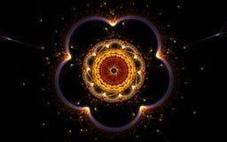 Cinquefoil de fleur de vintage de fractale Image stock