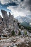 Cinquetorri in Dolomiet Royalty-vrije Stock Afbeeldingen