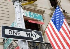 Cinquième Avenue, New York City Photos stock