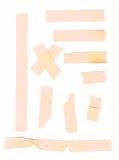 Cinta adhesiva fijada para las esquinas de papel de la nota o de la foto Fotografía de archivo libre de regalías