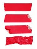 Cinta adhesiva roja Imágenes de archivo libres de regalías