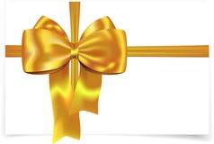 Cinta amarilla con el arqueamiento Imágenes de archivo libres de regalías