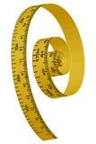 Cinta amarilla de medición Fotos de archivo