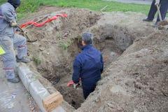Cinta amonestadora subterráneo, sistema de alarma 2 Foto de archivo