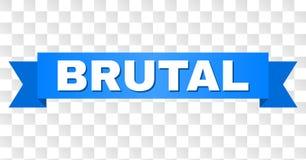Cinta azul con el texto BRUTAL ilustración del vector